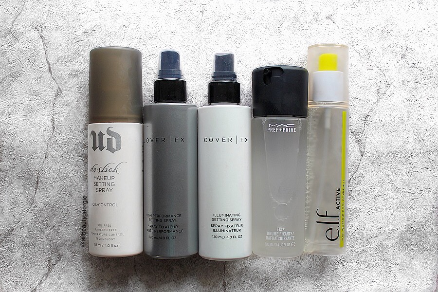 Setting Spray Haul + Comparisons | Beauty Reviews – gina is blogging